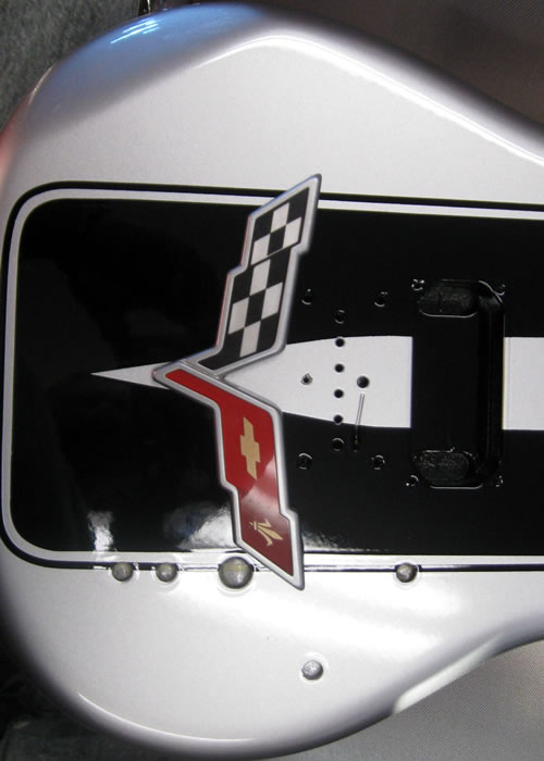 Custom painted Corvette logo