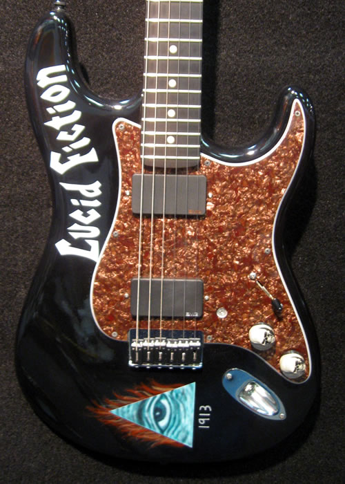 Custom painted band name Strat