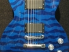 Custom painted blue waves on a Les Paul