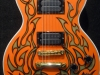 Custom painted orange gothic flames on a Les Paul