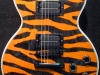 Custom painted tiger-striped Les Paul