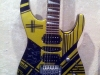 Custom painted yellowand black striped Jackson